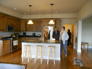 Beautiful hickory cabinets and soapstone counters.